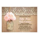 boda rústico del hydrangea del rosa del tarro de a anuncio personalizado