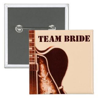 boda rústico del país occidental de la guitarra pin