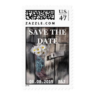 boda rústico del vaquero del país occidental de la sello postal