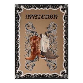 """Boda rústico del vaquero del país occidental invitación 5"""" x 7"""""""