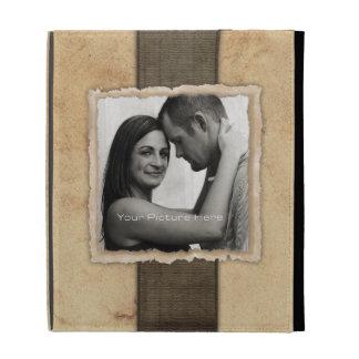 Boda rústico del vintage de la foto del compromiso