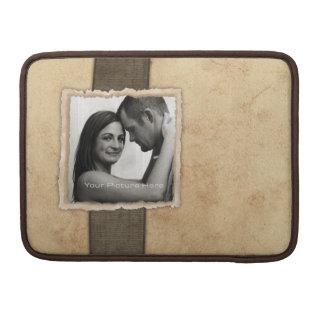 Boda rústico del vintage de la foto del compromiso fundas para macbook pro