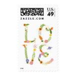 Boda rústico floral del arbolado de las letras de sello