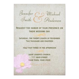 Boda simple del papel del vintage de la invitación