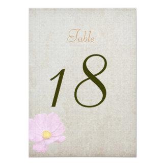 """Boda simple del papel del vintage de la tarjeta invitación 4.5"""" x 6.25"""""""