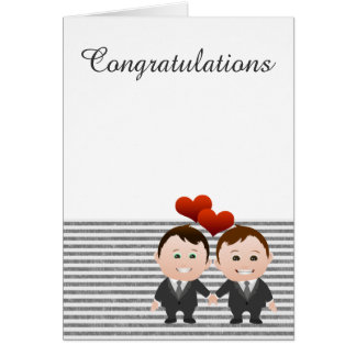 Boda temático gay de la enhorabuena tarjeta de felicitación