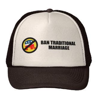 Boda tradicional de la prohibición gorras