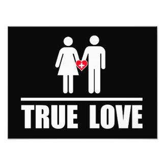 Boda tradicional del amor verdadero impresión fotográfica