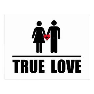 Boda tradicional del amor verdadero postales
