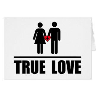 Boda tradicional del amor verdadero tarjeta de felicitación