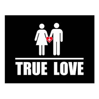 Boda tradicional del amor verdadero tarjetas postales