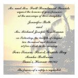 Boda tropical de la línea de la playa de la playa invitacion personal