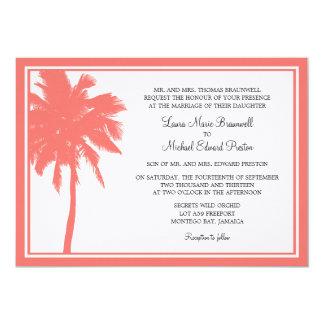 Boda tropical de la palmera coralina