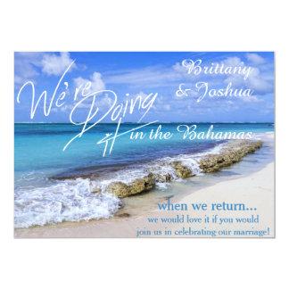 """Boda tropical que lo hace en las Bahamas Invitatio Invitación 5"""" X 7"""""""