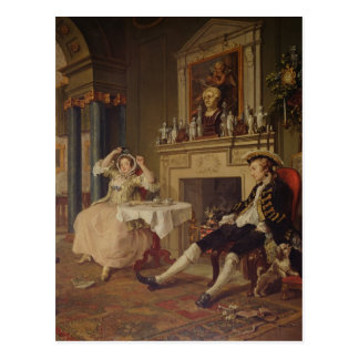 Boda un modo del la: II el tete-a-tete, c.1743 Postal