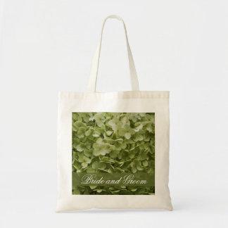 Boda verde del Hydrangea de Annabelle Bolsa Tela Barata