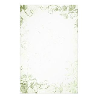 Boda verde elegante del vintage  papeleria de diseño
