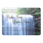 Boda verdoso de la naturaleza invitación 12,7 x 17,8 cm