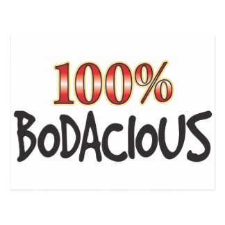 Bodacious 100 Percent Postcard