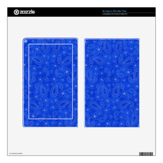 Bodacious Blue Kindle Fire Decals