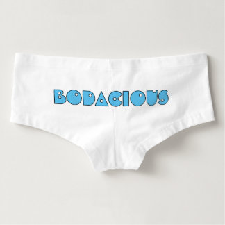 Bodacious Booty Funny Quote Retro 80's Slang Humor Boyshorts