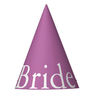 Bodacious Orchid Lilac with White Wedding Detail Party Hat