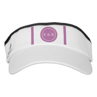 Bodacious Orchid Lilac with White Wedding Detail Visor