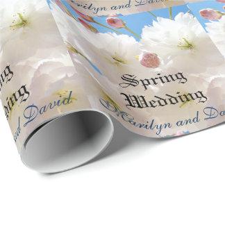 Bodas de la primavera del papel de embalaje de los
