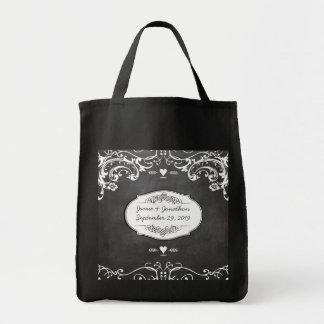 Bodas de la tipografía de la pizarra bolsa tela para la compra