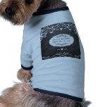 Bodas de la tipografía de la pizarra camiseta de perro