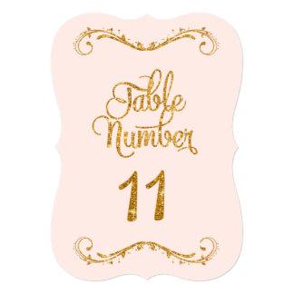 """Bodas de lujo del número 11 de la tabla del brillo invitación 5"""" x 7"""""""