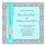 Bodas de plata azul del trullo invitacion personal