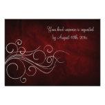 Bodas de plata roja elegante invitacion personal