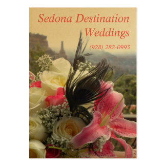 Bodas del destino de Sedona que casan la tarjeta Tarjetas De Visita Grandes