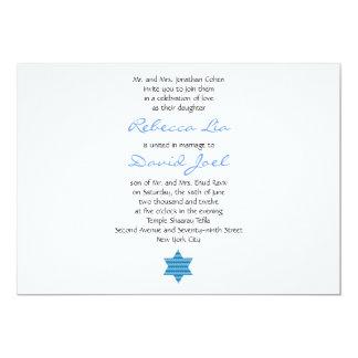 Bodas del hebreo de la invitación del boda judío