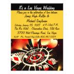 Bodas del tema del casino de Viva Las Vegas Invitaciones Personalizada