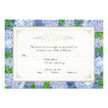 Bodas elegantes formales florales del cordón azul  comunicado personalizado