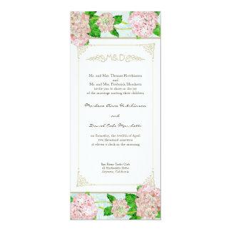 """Bodas elegantes formales florales del cordón invitación 4"""" x 9.25"""""""