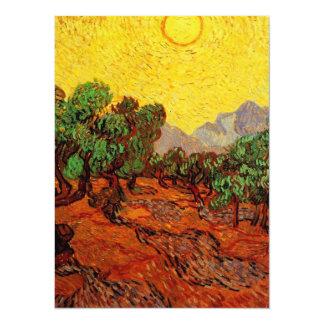 """Bodas, olivos de Vincent van Gogh Invitación 5.5"""" X 7.5"""""""