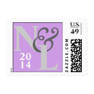 Bodas pálidos de la inicial de la fecha de la sello