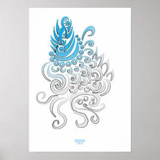 Boddhisatva azul póster