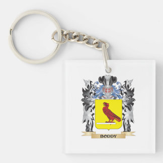 Boddy Coat of Arms - Family Crest Single-Sided Square Acrylic Keychain