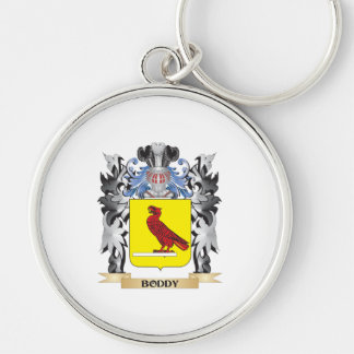 Boddy Coat of Arms - Family Crest Silver-Colored Round Keychain