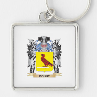 Boddy Coat of Arms - Family Crest Silver-Colored Square Keychain
