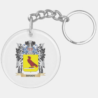 Boddy Coat of Arms - Family Crest Double-Sided Round Acrylic Keychain