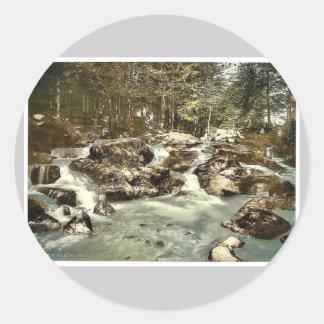 Bode Waterfall, Braunlage, Hartz, Germany rare Pho Stickers