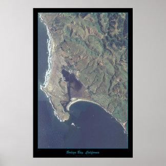Bodega Bay, California satellite poster