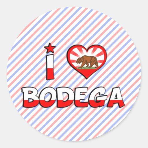 Bodega, CA Pegatina Redonda