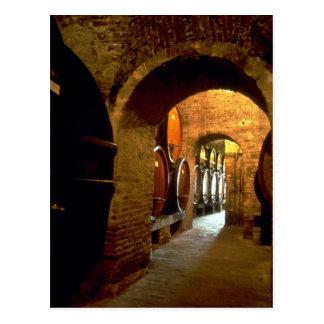 Bodega en Montepulciano, Toscana, Italia Tarjetas Postales