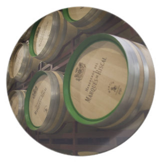 Bodega Marques de Riscal winery, wine cellar Party Plates